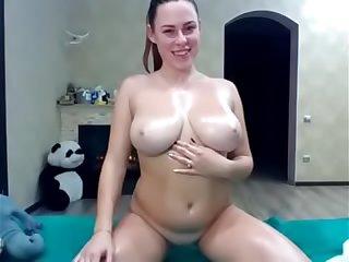 Oiled big boobs