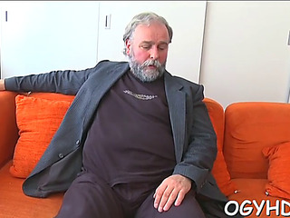 Sexy youthfull suitor fucked hard by old chap