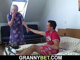 He picks with respect to busty ancient grandma