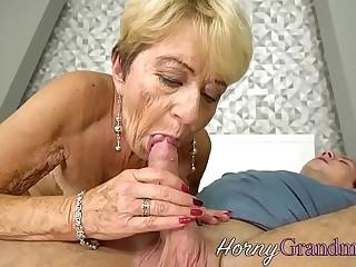 Chubby grandma jizzed surpassing