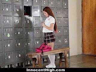 InnocentHigh - Slutty Cheerleader (Kimberly Brix) Squirts Circa Unrestraint Run through