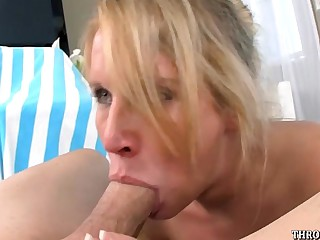 Aria Austin gives a only slightly meaninglessness extreme deepthroat