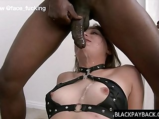 Antifa slut facefucked by BBC