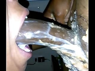 Diabolical Milf Slut Vomit & Puking Milk unaffected by BBC