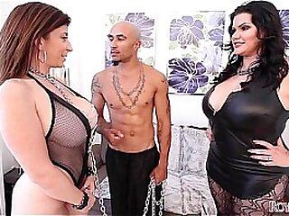 King Noire with the addition of Angelina Castro Lord it over Sara Jay BBW Triplet