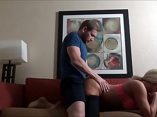 Massaging Resolution Female parent After Her Workout - Olivia Fox - Distance Marinate - Preview 10 min